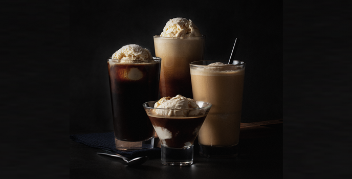 Enjoy the mouthwatering fusion of coffee and ice cream in selected Starbucks Reserve