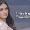 PH bet Ahtisa Manalo landed 1st Runner-up at the Miss International 2018