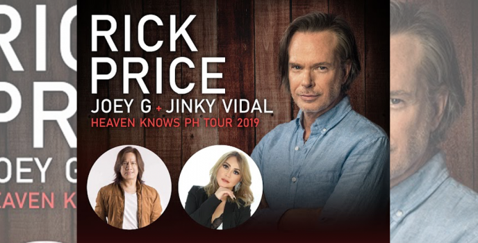 Joey G & Jinky Vidal to join Rick Price's week-long Valentine concert in the Philippines