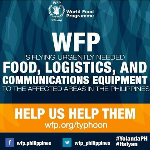 World Food Programme Is Accepting Donations For The Typhoon Affected Families In The Philippines Www Flowgalindez Com